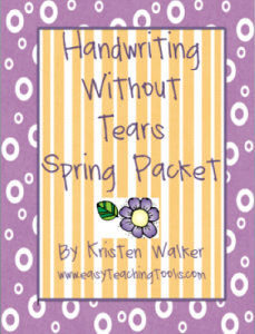 Handwriting Without Tears Spring Packet Giveaway!!!