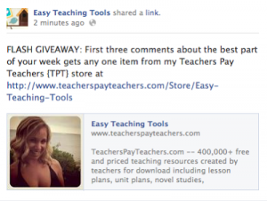 Flash Giveaway over on Facebook…Now!!!