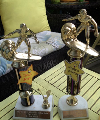 A Classroom Management Trophy is a great idea my students love and a way to get rid of some of your old trophies! I'll randomly put one of these babies on someone's desk who is deserving of it. It can be used so many different ways!