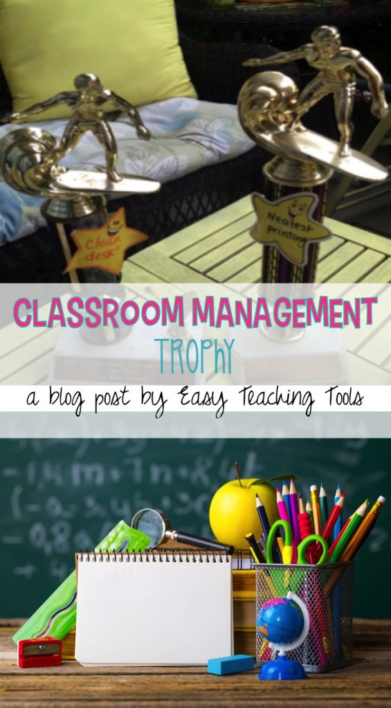 A Classroom Management Trophy is a great idea my students love and a way to get rid of some of your old trophies! I've got 5+ ways for you to use one!