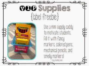 VIP Supply Caddy in your Classroom