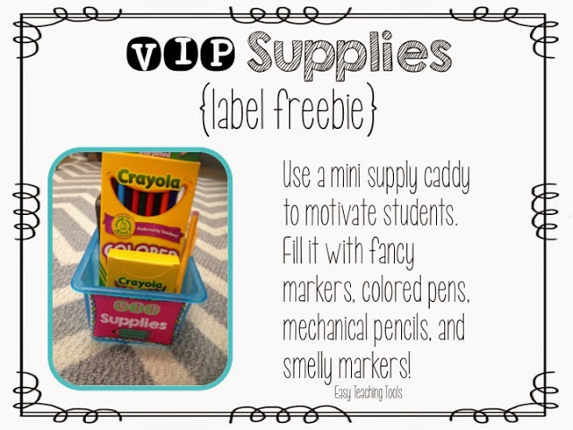 VIP Supply Caddy to help with classroom management.