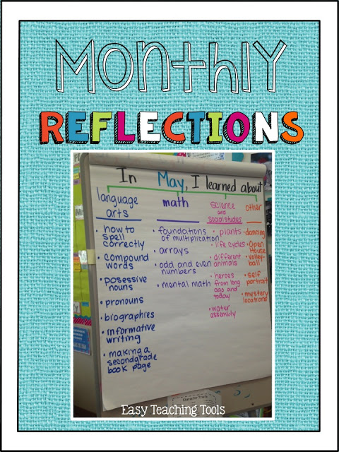 It's important for students to reflect on their learning.   This is a simple, yet powerful strategy that works well for students in K-2.  You can send it home right away to share learning with parents, include the chart in your newsletter, or keep student writing in your memory book for a keepsake.