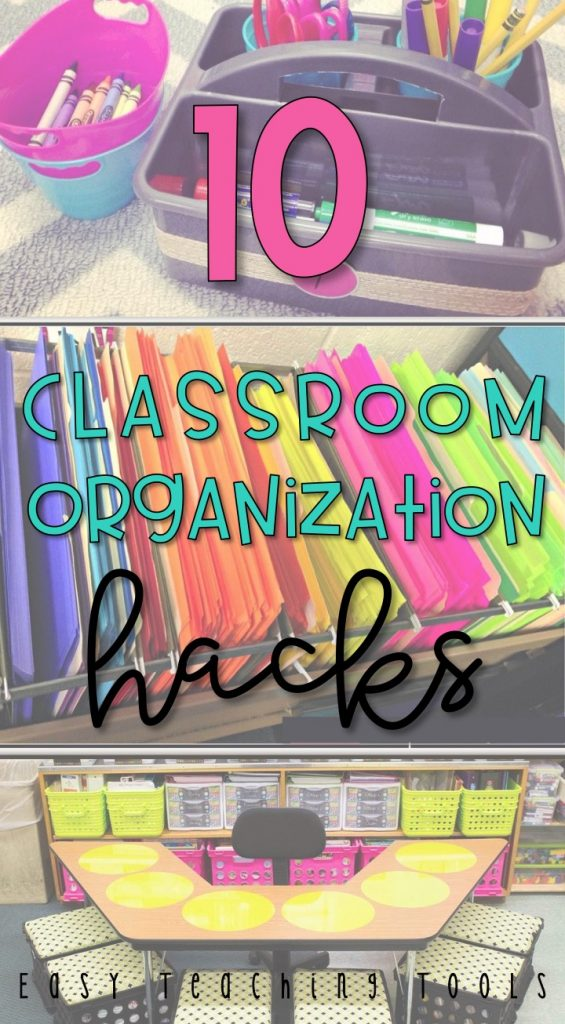 Easy Classroom Organization is important for so many reasons. I want to share with you 10 easy tips that will help you in your class.