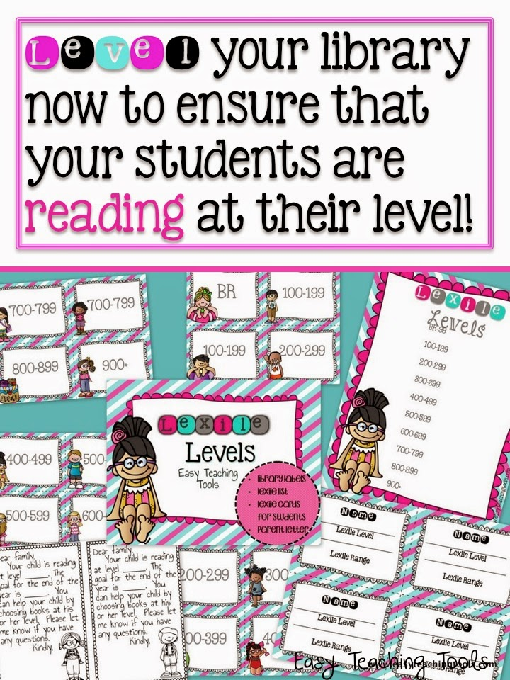 Level Your Classroom Library By Lexile Easy Teaching Tools