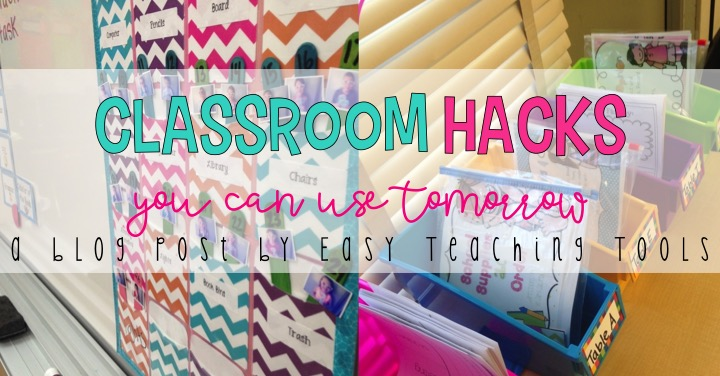 I want to share some of my classroom hacks that you can use tomorrow in your classroom.