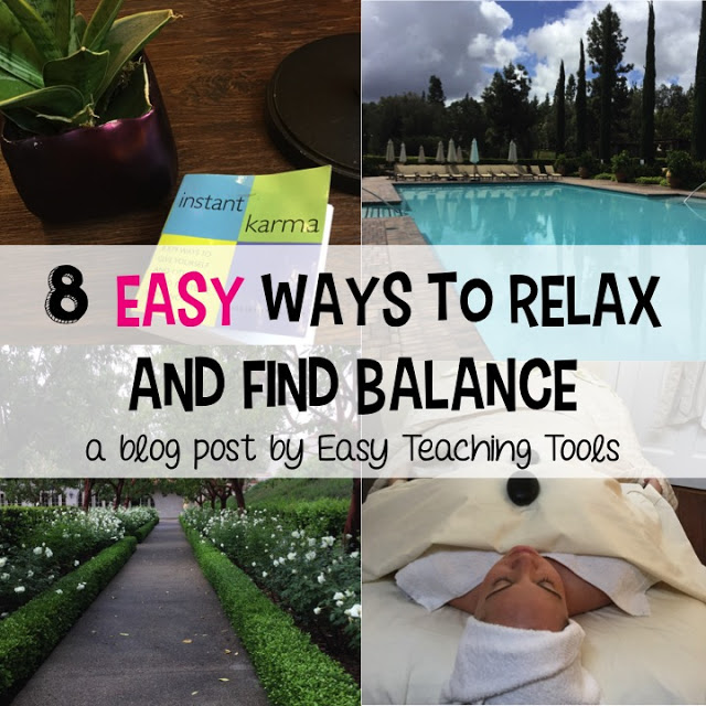 I've got 8 simple tips to help you relax, recharge, and find a little normalcy in your teacher life.