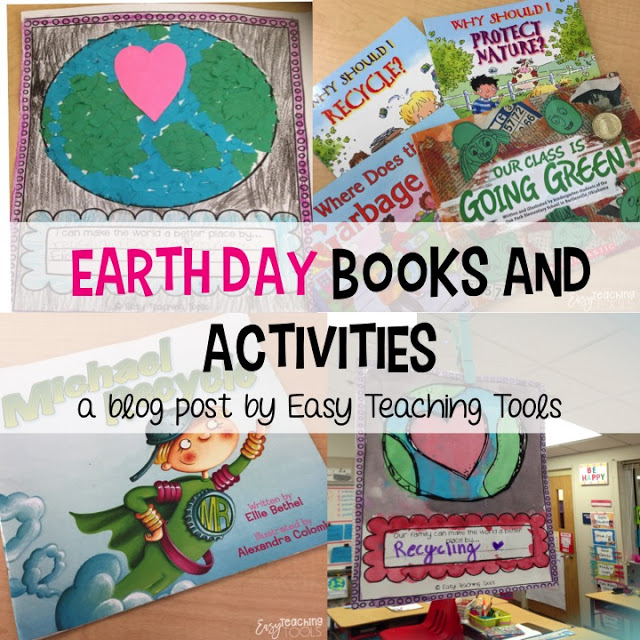 "I am going to share a few of my favorite ""Protecting Mother Nature"" books and some activities that you can do in your class for Earth Day."