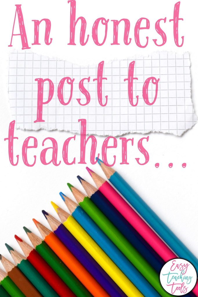 Do you feel pressure from the teaching community as a result of social media? You're not alone. I've got a few suggestions to help you!