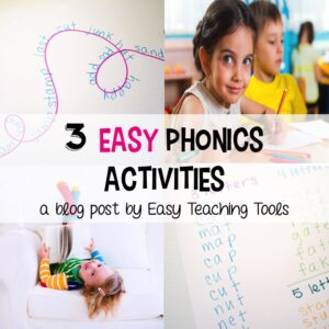 Implement these 3 easy phonics activities and games into your classroom tomorrow. They require little prep. and can be used with any reading curriculum.