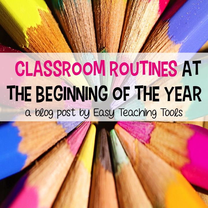 Introduce classroom routines slowly at the beginning of the year to reduce stress and anxiety. I've got 3 ideas to help you do this!