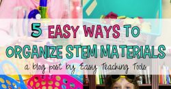 STEM has been such an incredible resource to so many teachers. But how many of you are now stuck organizing all of those wonderful materials? To help, I have put together a list of 5 ways to organize STEM materials. I hope these ideas will help you as well.