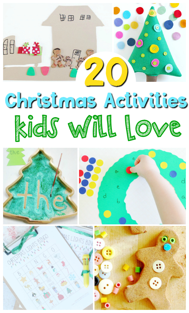 The Christmas season is a busy time for all of us. I want to save you time by compiling 20 Christmas activities that you can use tomorrow!