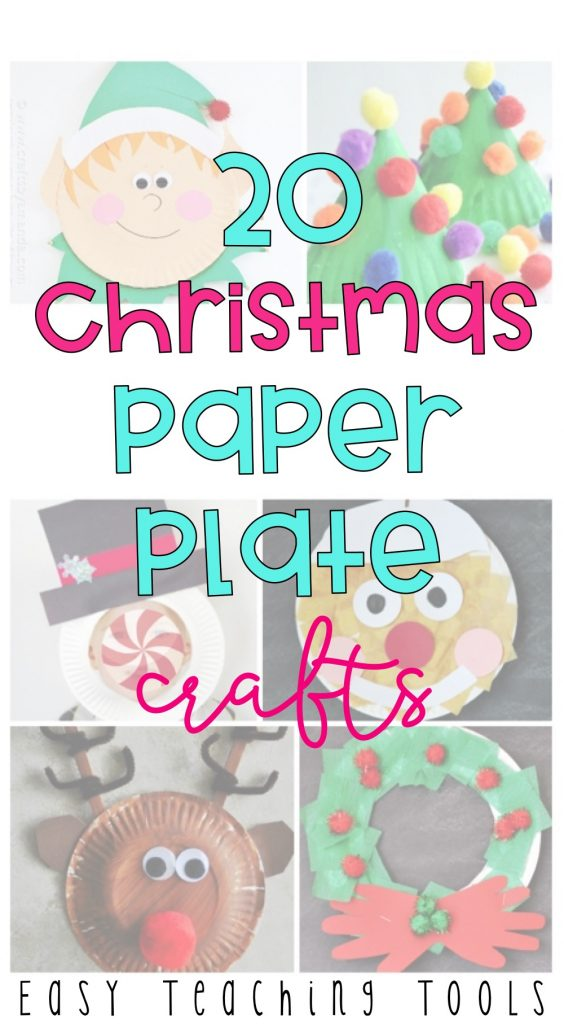 Add some holiday spirit to your classroom with simple, easy, Christmas paper plate crafts.  Perfect classroom party crafts!