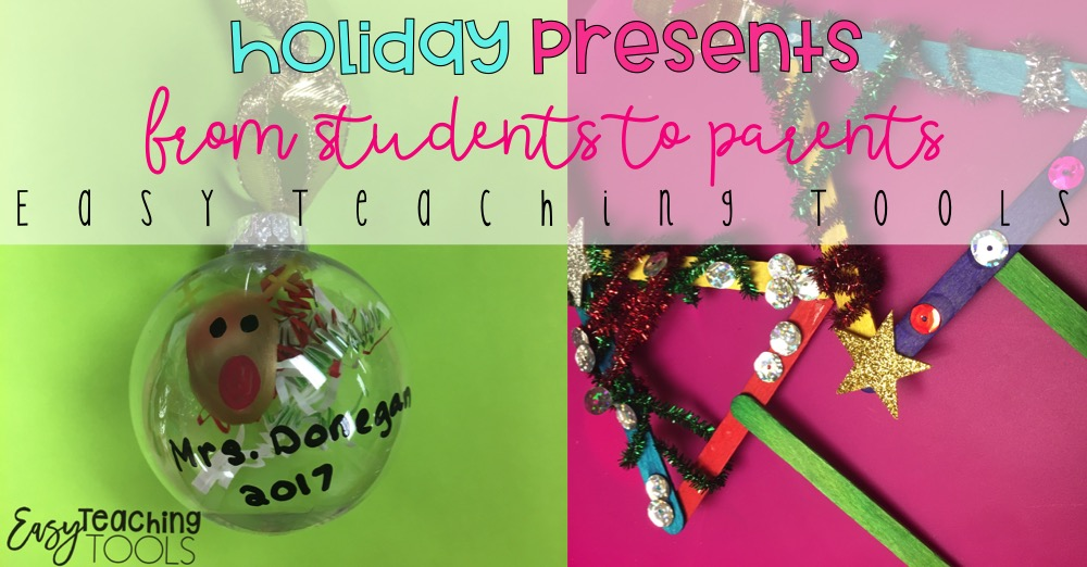 Christmas Gift Ideas For Parents From Preschoolers.Holiday Presents For Parents From Kids Easy Teaching Tools