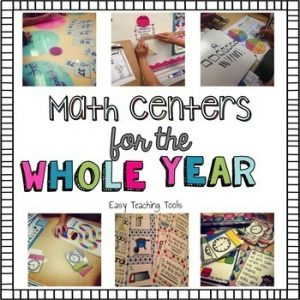 second grade entire year of math centers