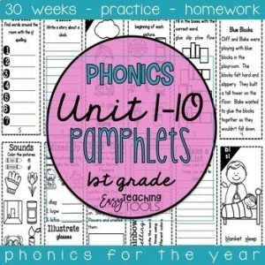 1st grade year of phonics bundle