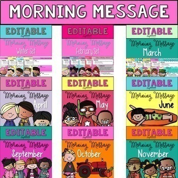 Editable Morning Message
