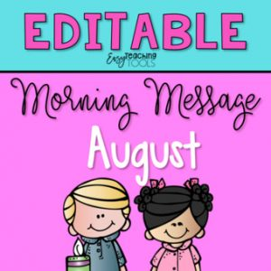 august morning message