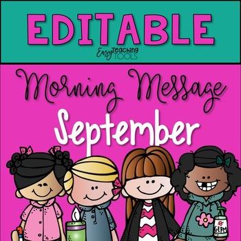 editable morning message slides