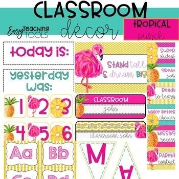 topical classroom decor