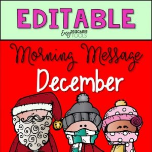 Editable Morning Message